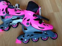 Evo Inline Adjustable Skates For Girls - Size 13J - 3 used once with box