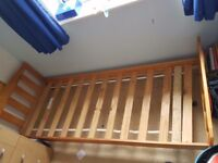 Childrens single pine bed