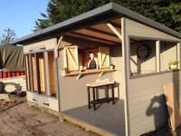 16ft x 8ft summer house/ bar/ hot tub shelter