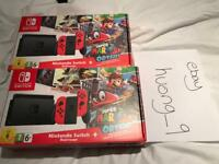 New Nintendo Switch 32GB Red console limited edition Mario odyssey