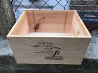 Wooden wine boxes for sale (6-bottle size)