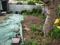 Labourer needed to level out garden soil