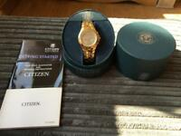 Men's citizen eco drive gold watch