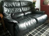 Dark blue sofa - x2 2 seater
