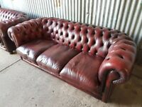 OXBLOOD RED CHESTERFIELD 3 SEATER