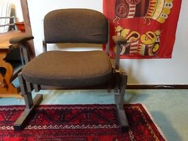 Chair with fold back seat