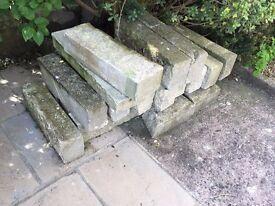 Stone wall/building Blocks, approx 17