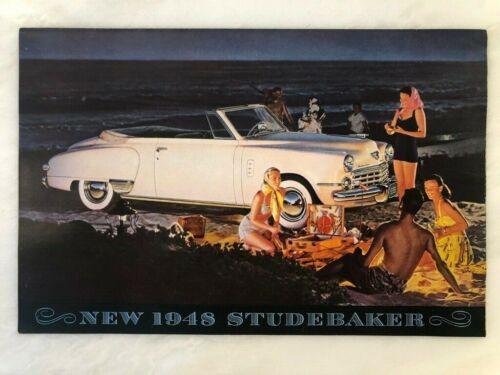 1948 STUDEBAKER AUTO Car ADVERTISING Brochure PHOTO ILLUSTRATIONS Vintage BEACH