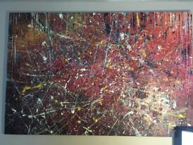 Abstract Large Original hand painted acrylic canvas painting ART picture