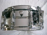 Sonor D556 seamless ferro manganese steel snare drum - Germany - Circa '75 - Link product