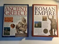 'The Illustrated Encyclopedia of Ancient Greece' and 'the Roman Empire' by Nigel Rodgers