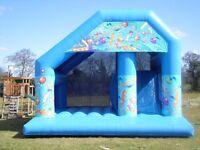 Bouncy castles, slide, assault courses for sale