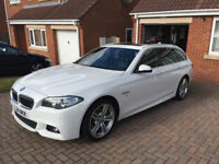 2014 F11 520d M Sport Touring Auto 2.0 in Alpine White - This car is as straight as they come