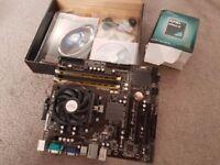 ASROCK 960GC-GS FX motherboard with 4GB Ram, Fan & AMD Athlon II Multicore processor