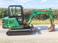 Jcb 803 plus mini digger / excavator c/w 2 buckets servo controls no vat