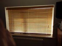 Venetian blinds (two), horizontal in wood