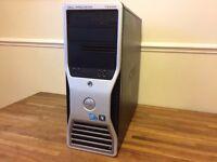 "GAMING PC DELL T5500 Xeon Quad Core 24 GB Ram + 24"" Full HD Screen Complete SET Desktop Computer"