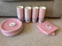Pink spotty partyware