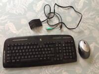 Logitech Cordless Desktop EX 110 multimedia keyboardwith wireless mouse
