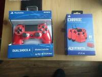 Brand New Red PS4 Controller and Charge Unit - Both for £50