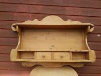 pine wall plate display unit