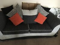 Grey 3 seater sofa with matching swivel Love Chair