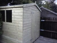 8 x 6 'BLACKFEN' NEW ALL WOOD GARDEN SHED, T&G, TREATED, £560 INC DELIVERY & INSTALLATION