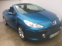 2005 55 PEUGEOT 307 CC 1.6 CONVERTIBLE 1 OWNER 45K FSH HPI CLEAR LOOKS N DRIVES SUPERB PX WELCOME
