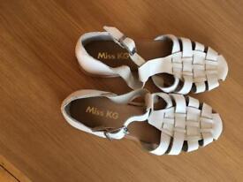 White leather kurt gieger sandals