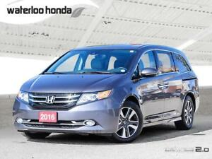 2016 Honda Odyssey Touring One Owner, Bluetooth, Back Up Came...