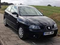 SEAT IBIZA STYL 1.4 Petrol 3 Door Hatchback Black 2006