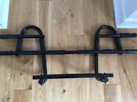 Pro-Grade Chin-up Door Bar Sturdy Heavy-Gauge Steel Frame & 12 Grip Positions