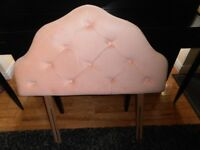 Peach padded Headboard for a single bed