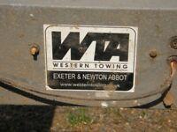 western towing motorcycle trailer single