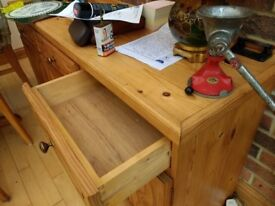 solid pine draws and cupboards
