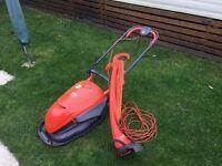 Flymo Hover Compact 330 Lawn Mower & Flymo Speedi Trim.