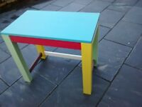 solid wood multi coloured side table