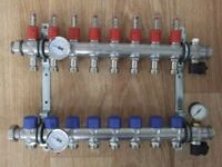 UNDERFLOOR HEATING MANIFOLD 8port/zone COULD POST