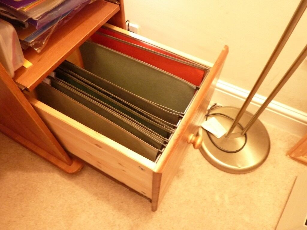 Pine Desk Computer With Filing Drawer In Beccles Suffolk Gumtree