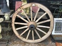 LARGE VICTORIAN CART WHEEL ...FREE LOCAL DELIVERY