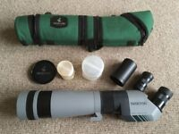 Swarovski AT80 HD spotting scope with 20-60x and 30x eyepieces
