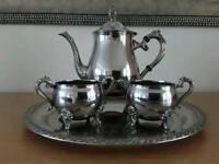 """""""Georgian"""" style silver plate tea service"""