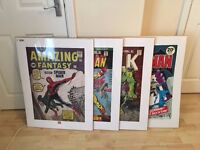 4 x COMIC BOOK COVER WALL ART PRINT PICTURE MARVEL & DC NEW