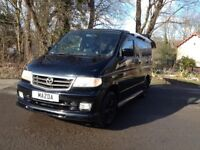 NEW SHAPE HI SPEC MAZDA BONGO 2.5 TD DAY SURF MPV BUS/DAY CAMPER/NEW MOT & LOW LEVEL COOLANT ALARM
