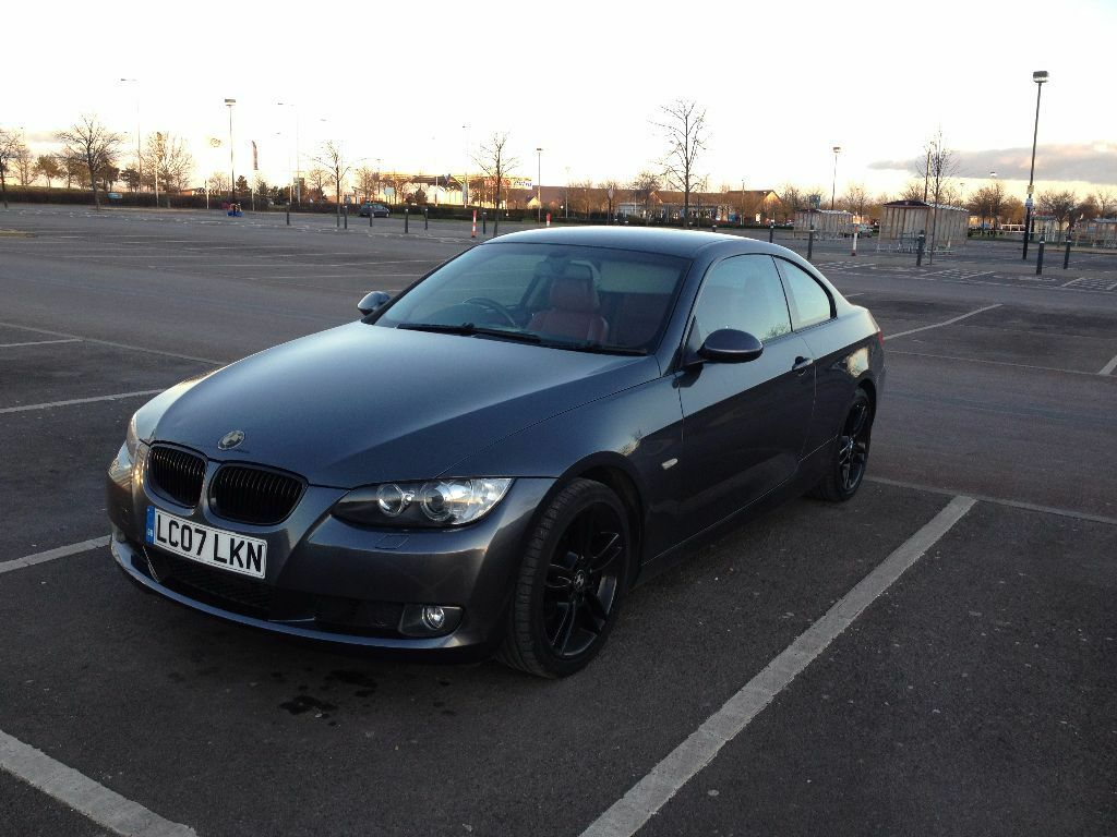2007 bmw 320d se grey e92 red leather in cambridgeshire gumtree. Black Bedroom Furniture Sets. Home Design Ideas