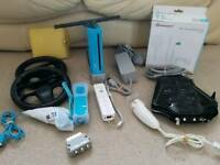 Nintendo Wii ltd blue + 25 games inc mario kart