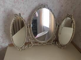 Shabby chic mirror drawers and wardrobe