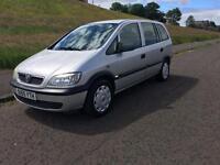 Vauxhall zafira 1.6 life 7 seater 2005 1 years mot 1 owner