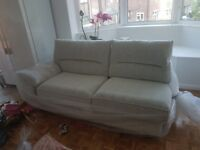 Lebus Lorenza cream three seater sofa - left hand facing sofa *brand new in packaging*