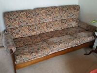 Maghony frame sofa and chairs